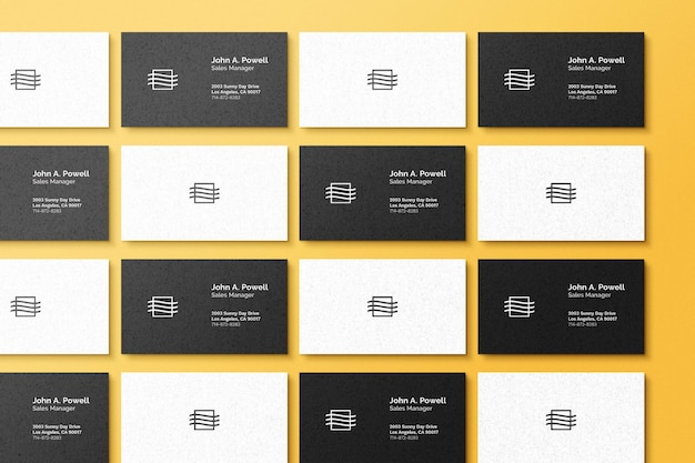 Business card set mockup