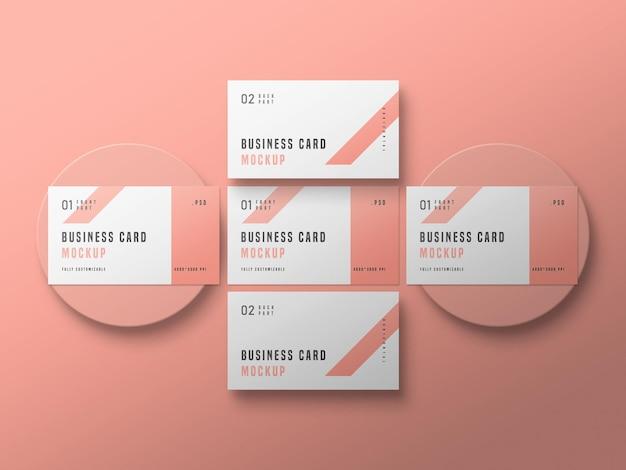 Макет набора визиток