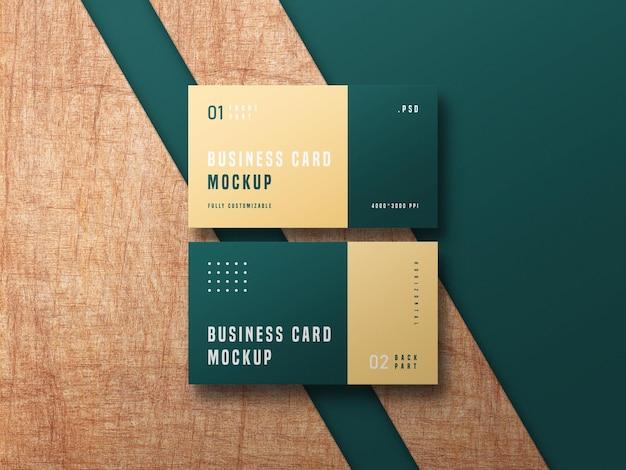 Business card set mockup