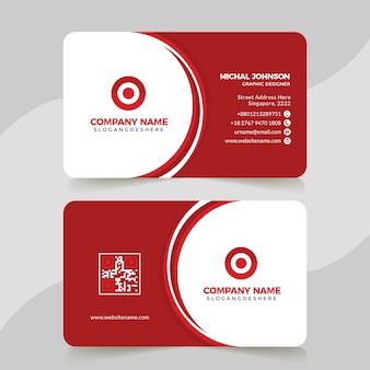 Business card set template