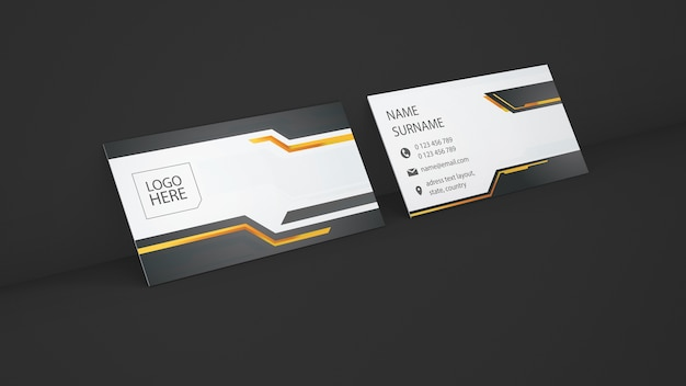 Business card showcase presentation