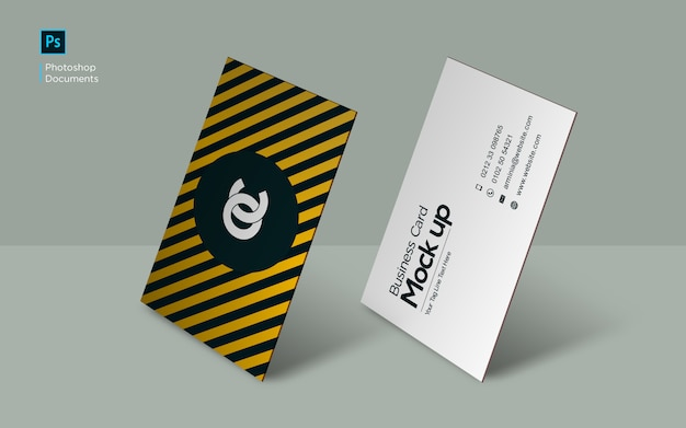 Business card standing mockup design template