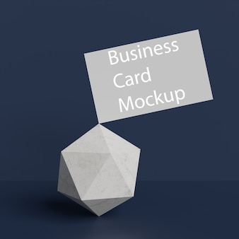 Business card on stone background