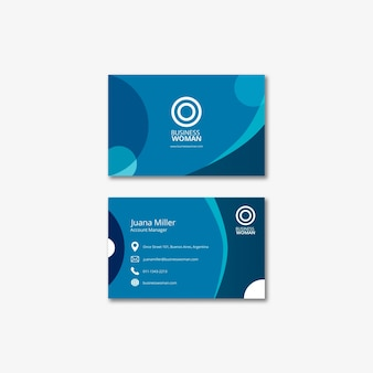 Business card template for company