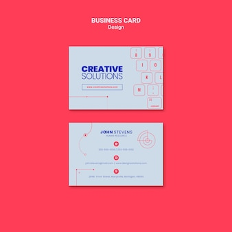 Business card template for creative business solutions