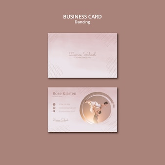 Business card template for dancing performers