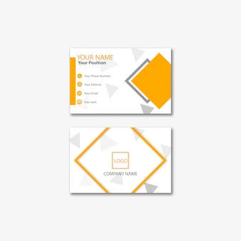 Business card template modern concept