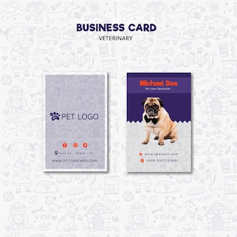 Business card template for pet care