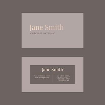 Шаблон визитки psd для косметического бренда в женской тематике