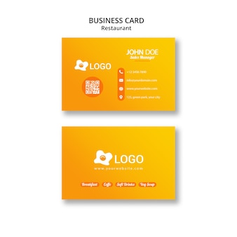 Business card template for publicity