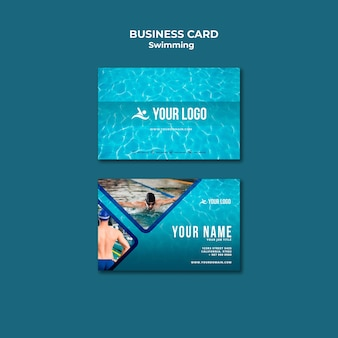 Business card template for swimming lessons