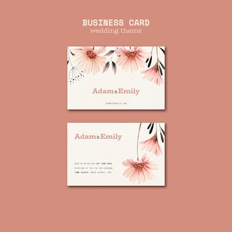 Business card template for weddings