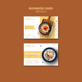 Business card template with brunch theme
