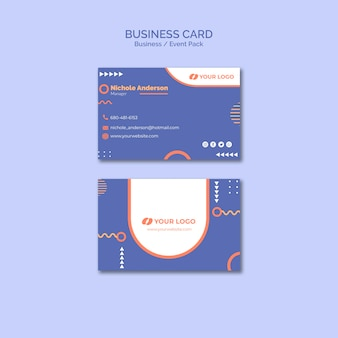 Business card template with business event concept