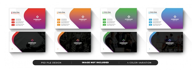 Business card template with color shapes