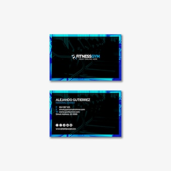 Business card template with sports concept