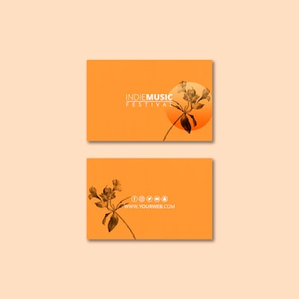 Business card template with spring festival concept