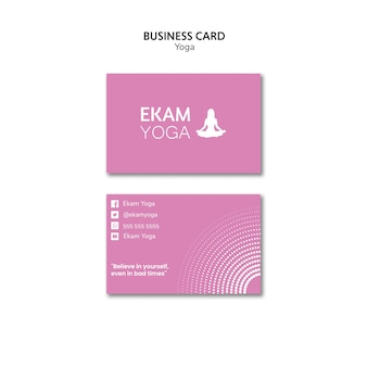 Business card template with yoga