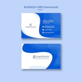 Business card template for yoga fitness
