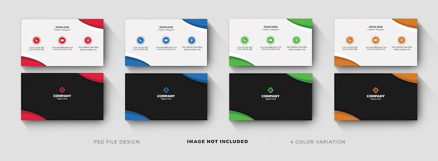 Business card templates with color variation