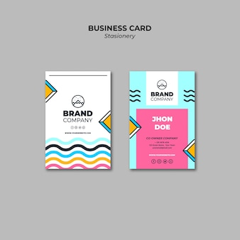 Business card wavy presentation template