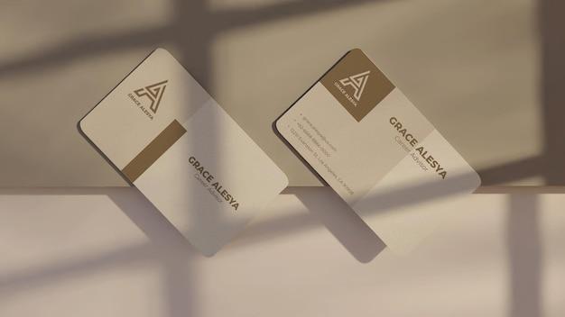 명함 흰색 회색 모형 3d 렌더링