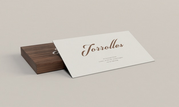 Business card with card holder mockup