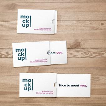 Business card with folder mockup