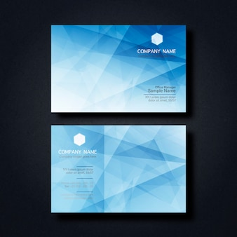 Business card with geometric figures