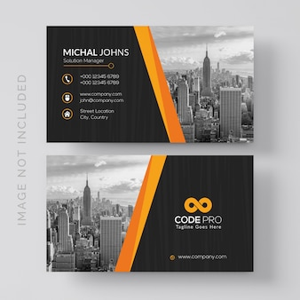 Business card with photo of cit