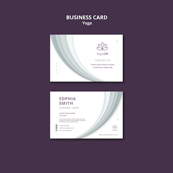 Business card with yoga template