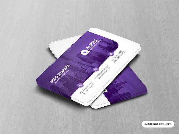 Business card wooden