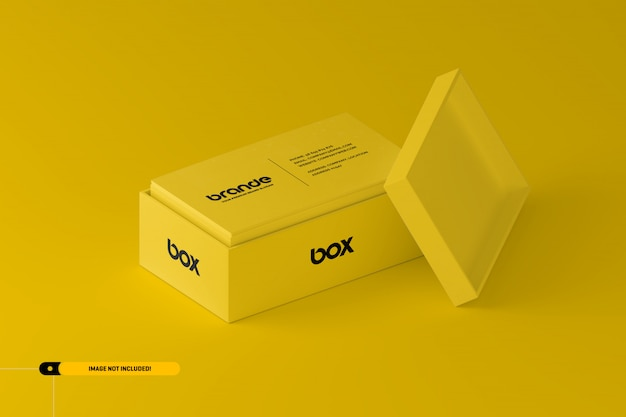 Business cards in a box mockup
