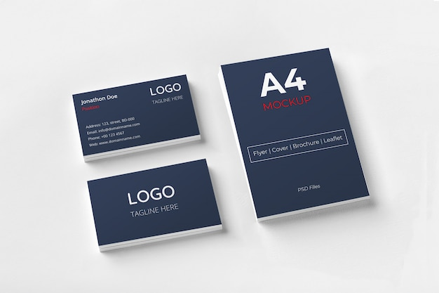 Business cards and documents