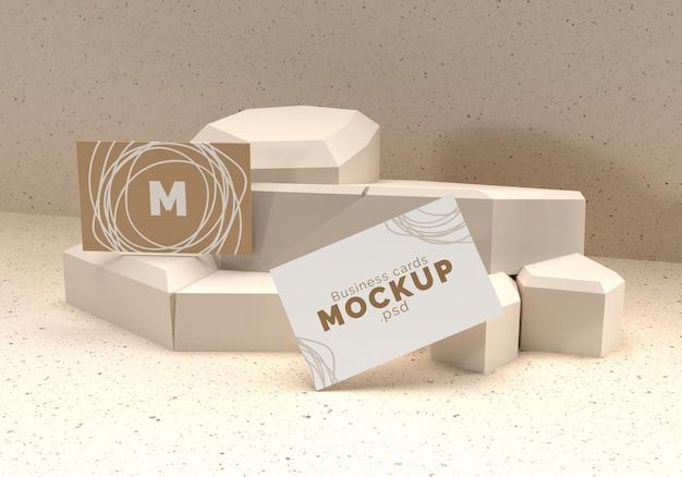 Business cards mockup design rendering