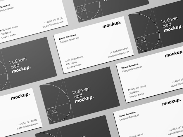 Business cards mockup template