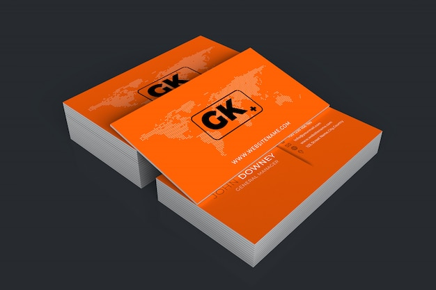 Business cards mockup.