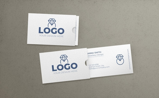Biglietti da visita con cartella mockup