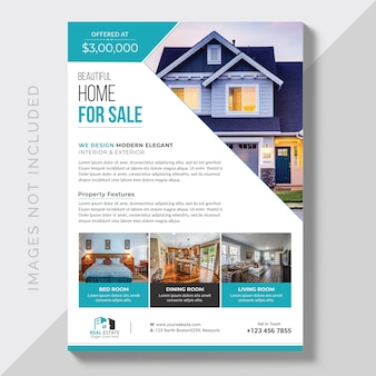 Business commercial brochure with image