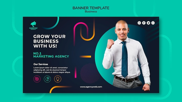 Business company banner template