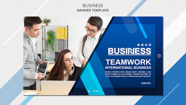 Business concept banner template