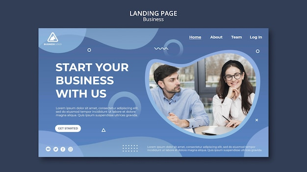 Business concept landing page style