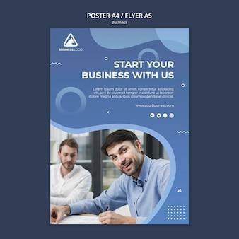 Бизнес-концепция постер стиль