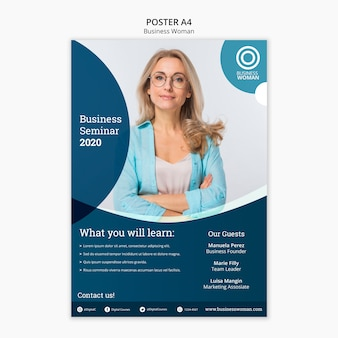 Business concept for poster template