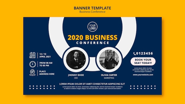 Business conference concept banner template