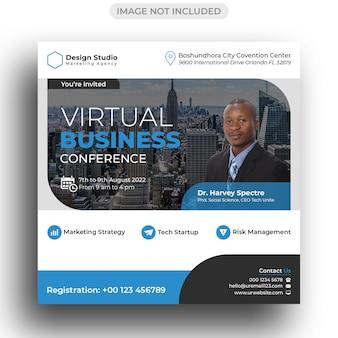 Business conference social media banner