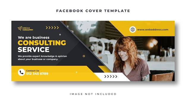 Business consulting facebook cover web banner template