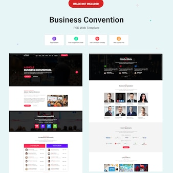 Концепция веб-дизайна business convention ui