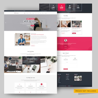 Business and corporate agency landing page premium psd template