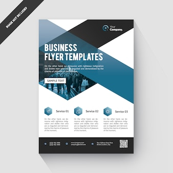 Business corporate blue flyer template